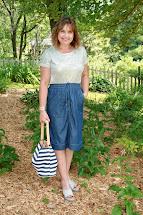 Amy' Creative Pursuits Wear Midi Skirt And