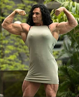 Female bodybuilding high muscle mass