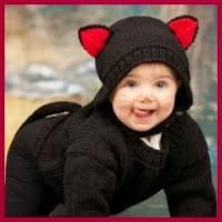 Gato negro de punto