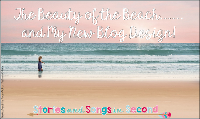 The Beauty of the Beach....and New Blog Design!