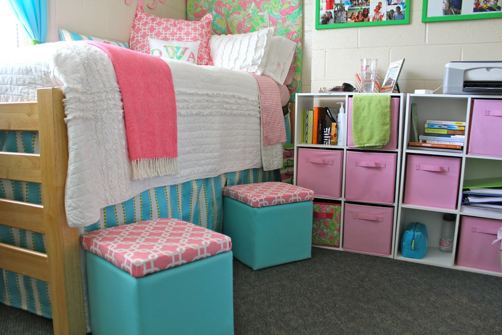 Miss southern prep preppy dorm showcase round 4 dorothy - Dorm underbed storage ideas ...