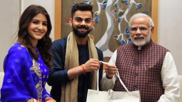 Breaking-PM नरेंद्र मोदी से मिलने पहुंचे विराट-अनुष्का, कुछ ऐसा था तीनों का अंदाज