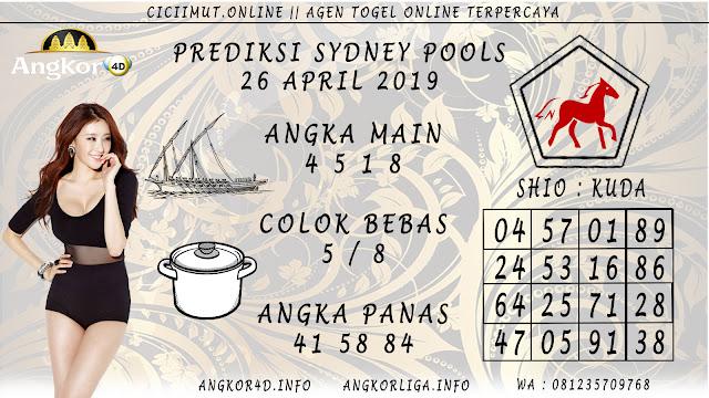 Prediksi Angka Jitu SYDNEY POOLS 26 APRIL 2019