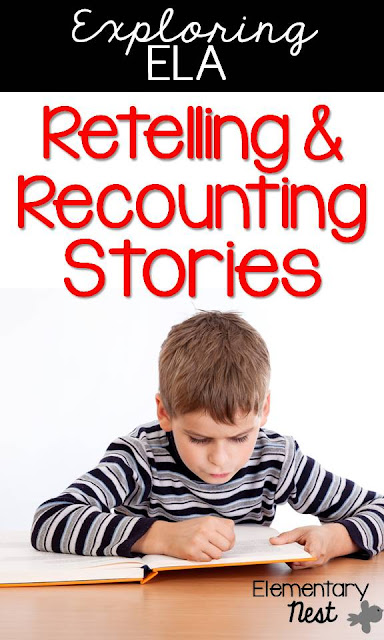 Retelling and Recounting Stories: teaching ideas and activities to help guide teachers when teaching the ELA standards. Includes Retelling and Recounting folktales, fables, myths for first grade, second grade, and third grade. Also includes the central message, lesson, and moral.