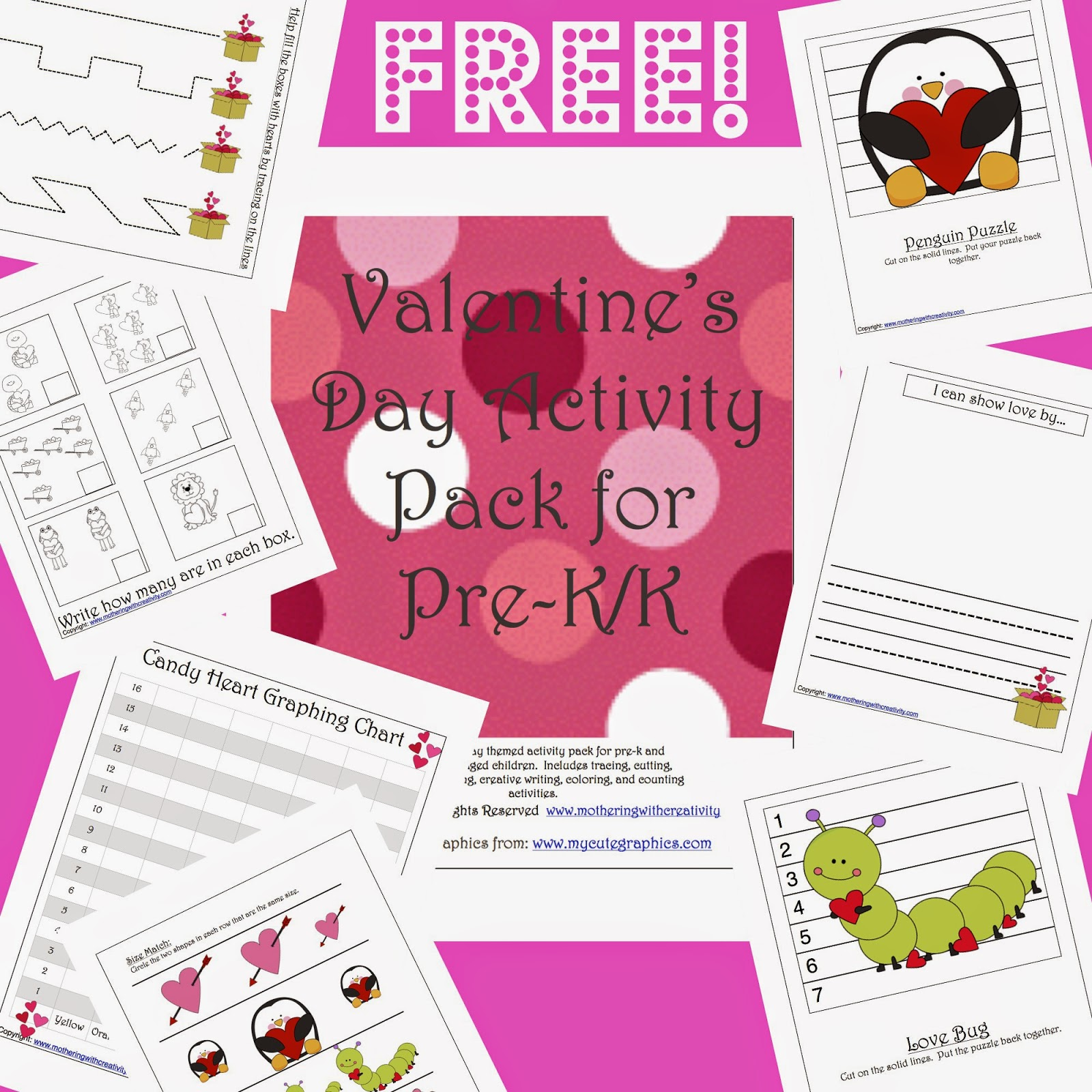 Mothering With Creativity Valentine S Day Activity Pack For Pre K K
