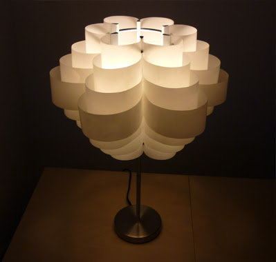 jocundist: recycled water-bottle lampshades