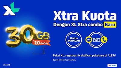 Promo Paket XL Xrta Kuota 30GB Rp 10 Ribu Terbaru 2018