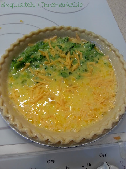 Half Cheese and Half Broccoli Quiche