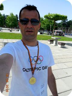selfie cu medalia