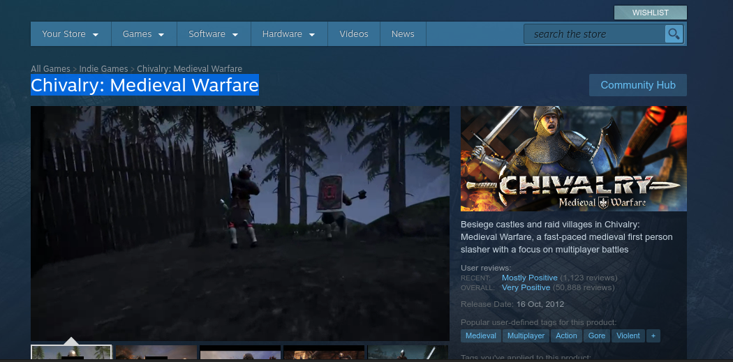 Chivalry: Medieval Warfare for Linux is Free For a Day