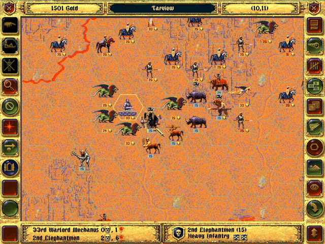 Warlord Mechanus vs Elephantmen | Fantasy General Screenshot