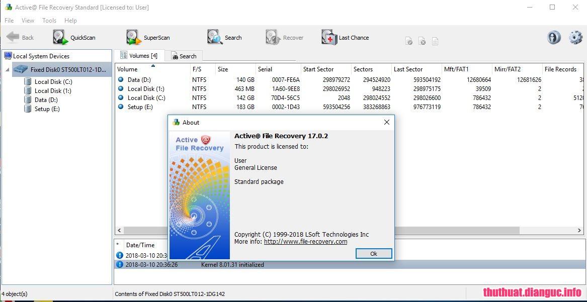 Download Active@ File Recovery 18.0.6 Full Cr@ck – Phần mềm khôi phục dữ liệu mạnh mẽ
