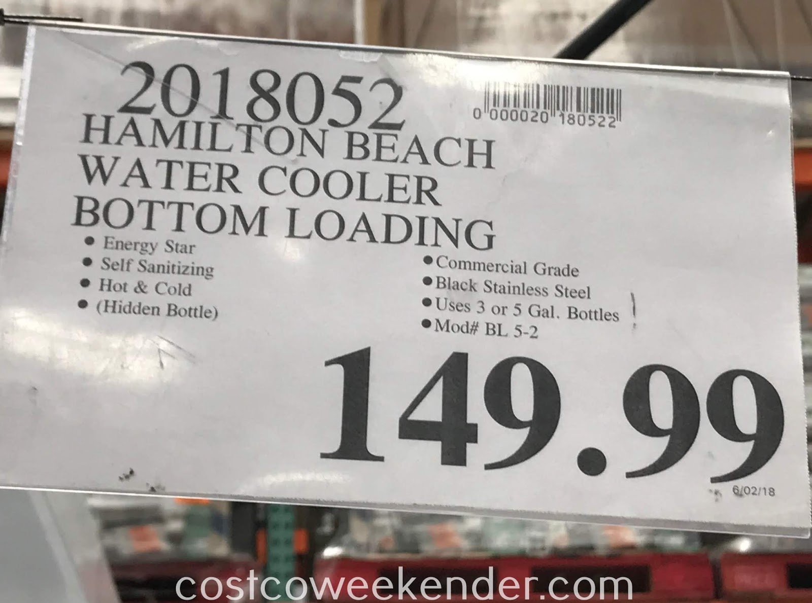 Deal for the Hamilton Beach Bottom Loading Water Cooler at Costco