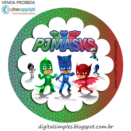 photograph about Pj Masks Printable Images named PJ Masks Celebration Printables for No cost