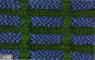 Patrón #1668: Punto Multicolor a Dos Agujas