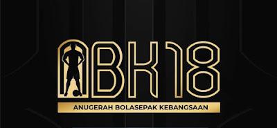 Keputusan Rasmi Pemenang Anugerah Bolasepak Kebangsaan ABK 2018