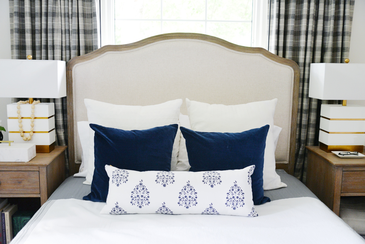 6 easy ways to bring summer into your home, Ramblingrenovators.ca, white blue bedding