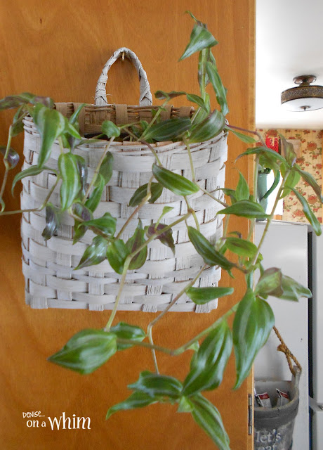 Thrifted Basket Planter | Denise on a Whim