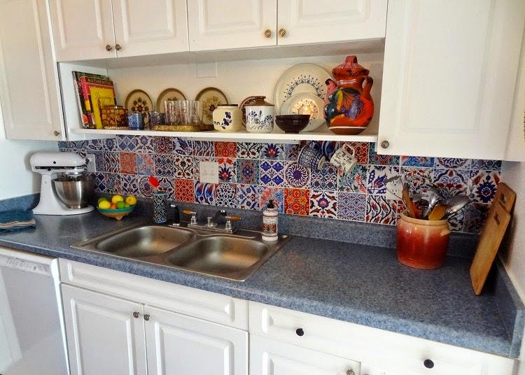 gypsy yaya bleucoin tile decal backsplash