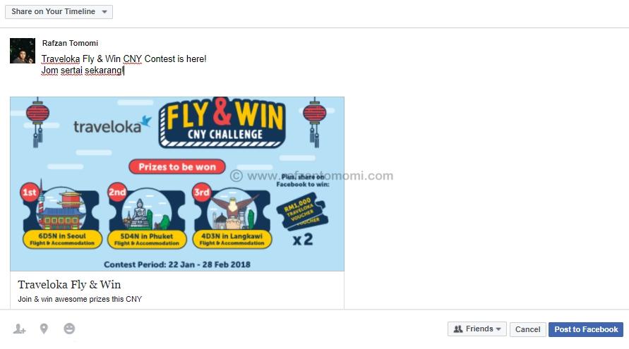 Traveloka Fly & Win CNY Contest - Hadiah Penginapan, Penerbangan & Baucer Traveloka Menanti Anda!