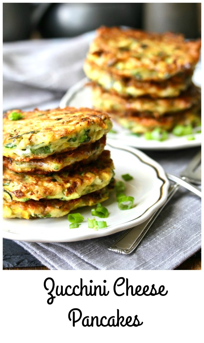 Zucchini and Cheddar Cheese Pancakes