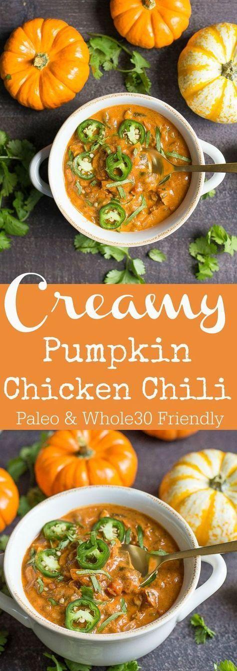 Creamy Pumpkin Chicken Chili