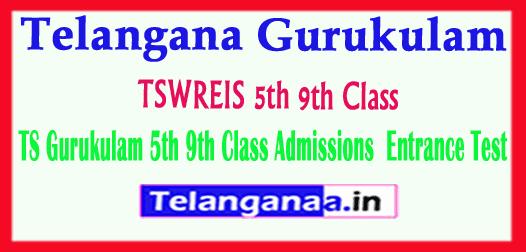 TSWREIS Telangana Gurukulam 5th 9th Class Admissions 2019 Entrance Test online Apply Exam Dates Halltickets Results