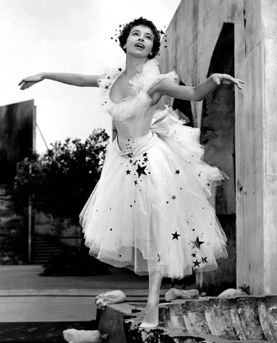 Leslie Caron in Costume from 1951 An American in Paris Academy Award Best Costume in Color Winner for Orry-Kelly, Walter Plunkett, and Irene Sharaff