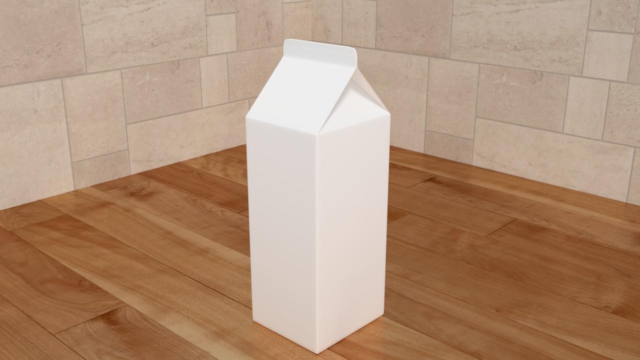 Free 3D Milk Box .blend