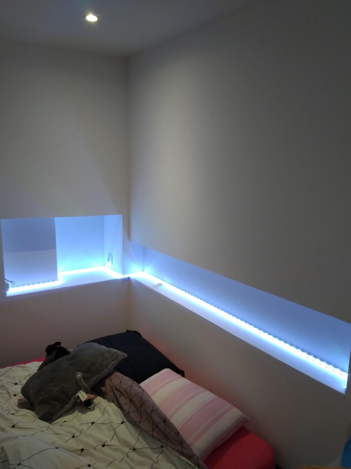 Placo Tete De Lit b-t-s: création niche pour tête de lit en placo, joint +