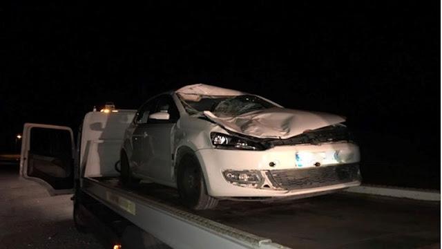Απίστευτο τροχαίο ατύχημα με αγελάδα!