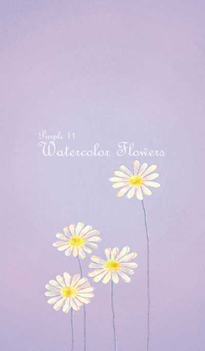 Watercolor Flowers[Marguerite]/Purple 11