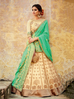 Perfect-Indian-mermaid-or-fish-cut-lehenga-designs-choli-fashion-11