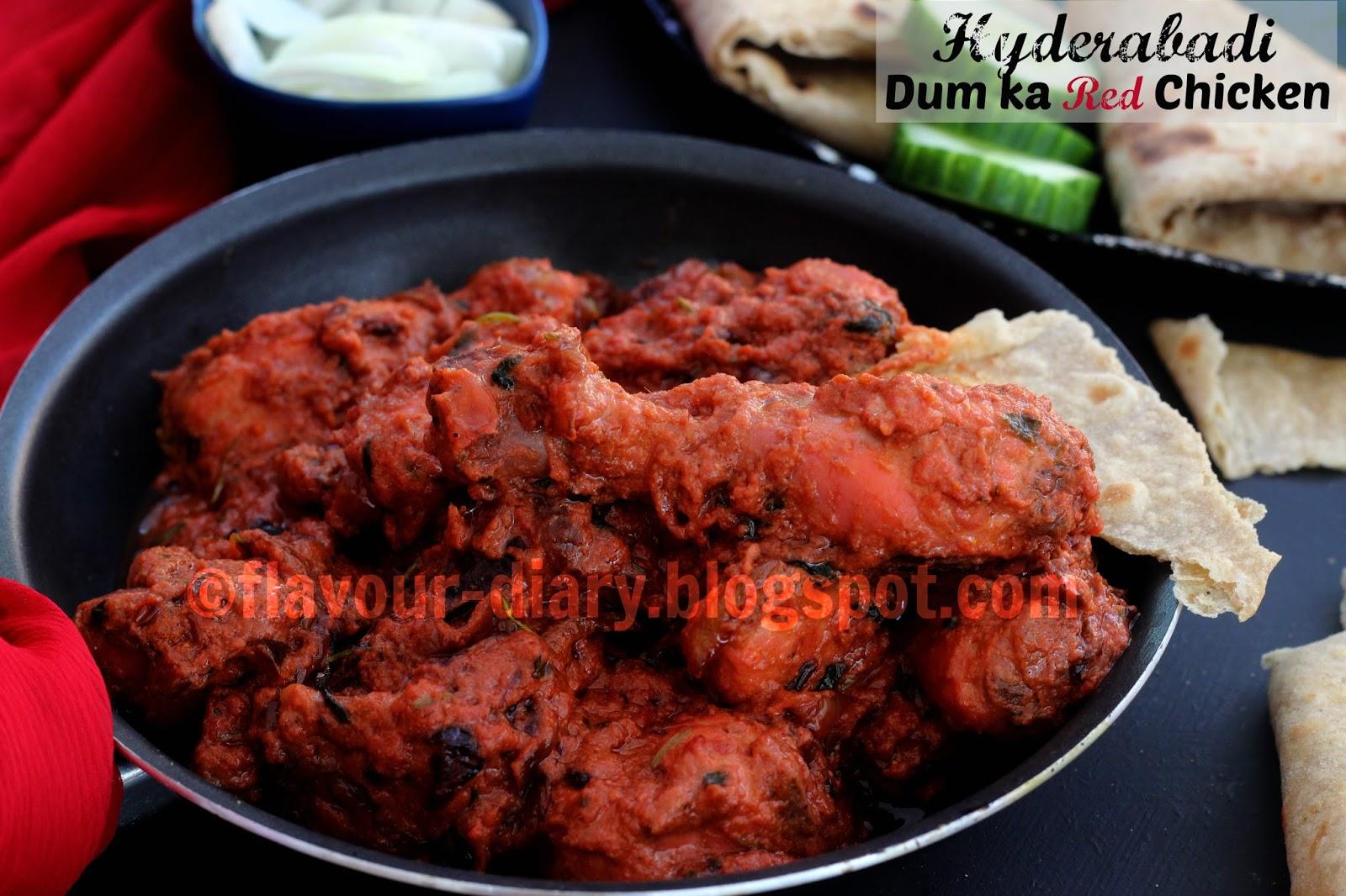 Flavour Diary: Hyderabadi Dum Ka Red Chicken   Indian ... - photo#23