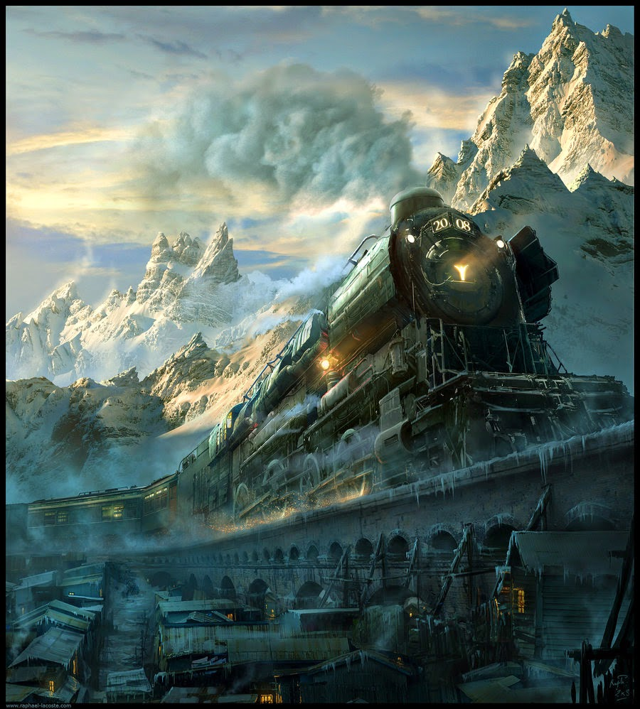 01-Arctic-Express-Raphael-Lacoste-Matte-Paintings-and-Concept-Worlds