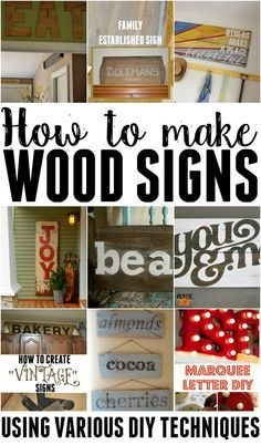 How To Make Wooden Signs! – Using Various Techniques