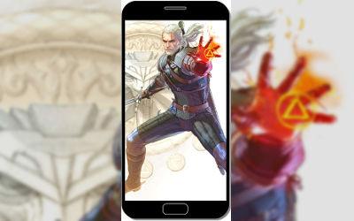 The Witcher 3: Wild Hunt - Geralt Pouvoir Igni - Fond d'Écran en QHD pour Mobile