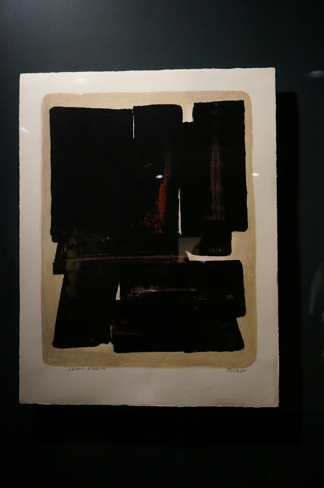 lithographie 7 1957 Pierre Soulages