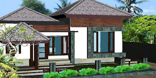 Gambar Desain Rumah Bergaya Bali Modern