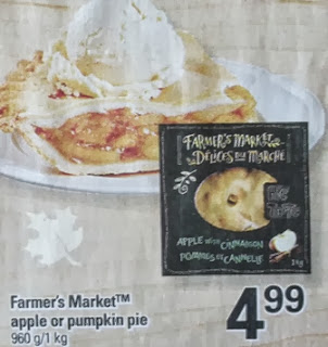 Farmer's Market apple pie / pumpkin pie $4.99