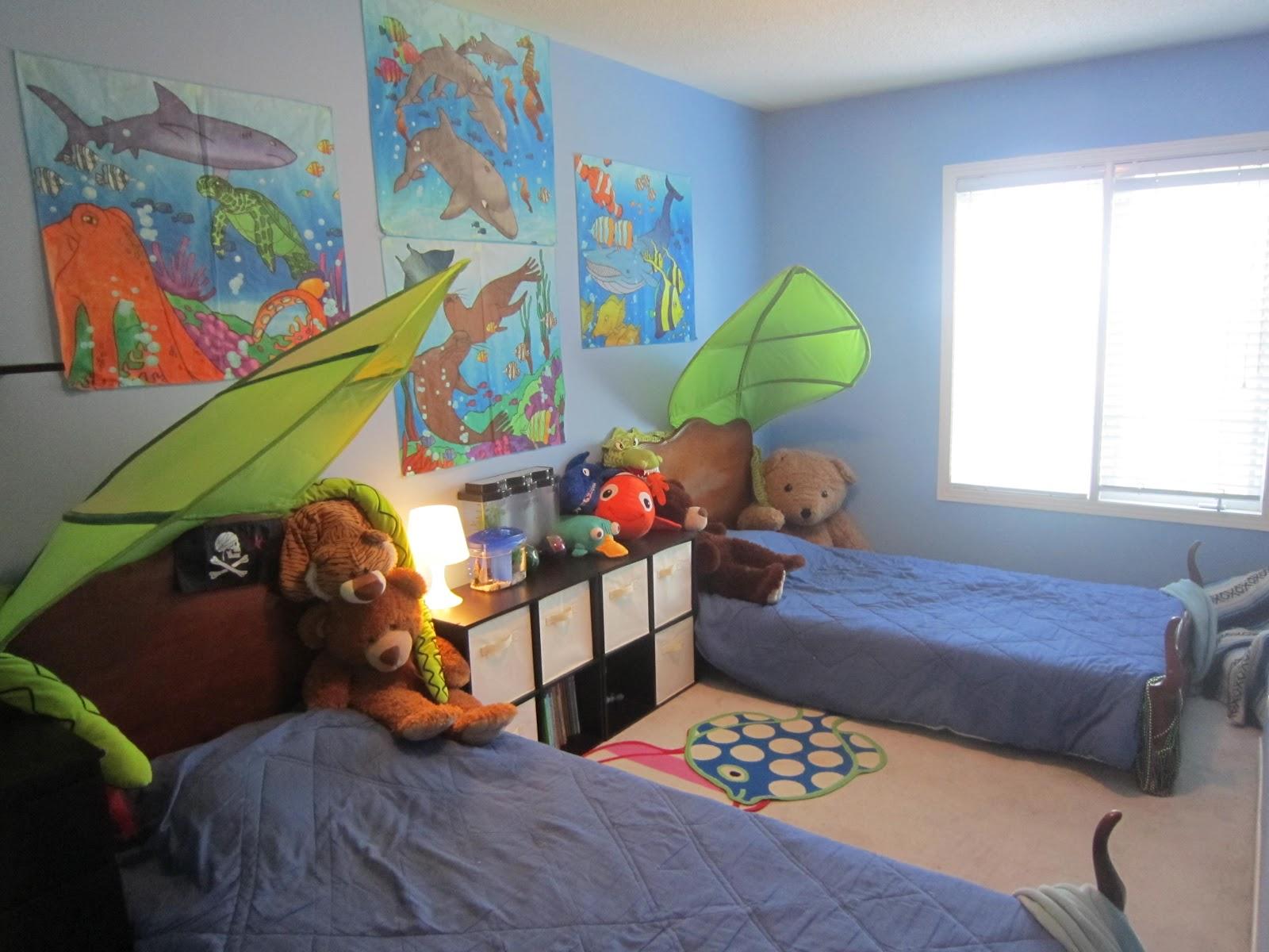 Kid S Bedroom Boy Under The Sea Ocean Theme Fish Little Townhome