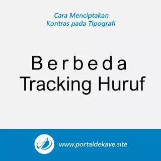 4. Membedakan Tracking Huruf