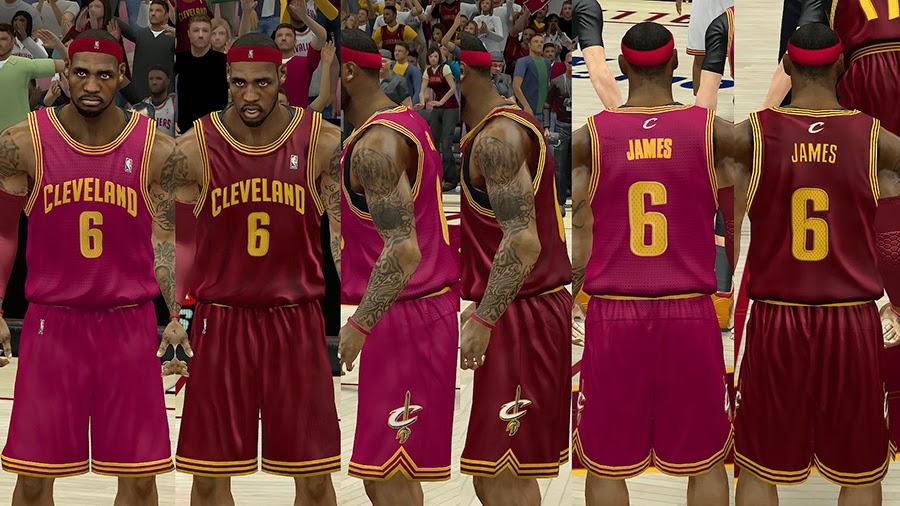 more photos d71c8 469c5 NBA 2K14 Cleveland Cavaliers HD Jersey Pack - NBA2K.ORG