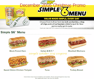 Subway coupons december