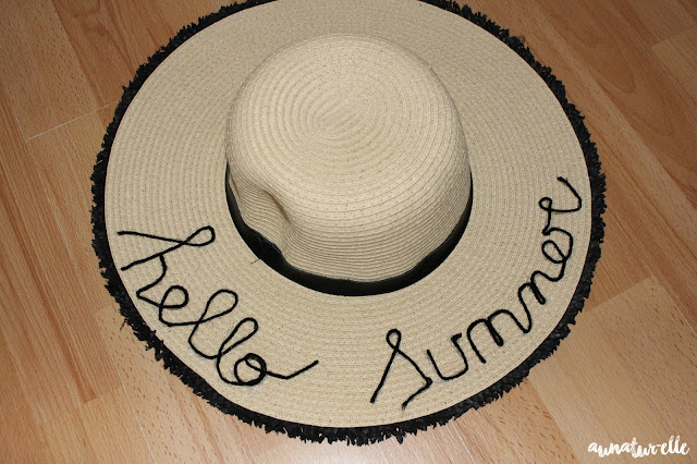 DIY chapeau hello summer