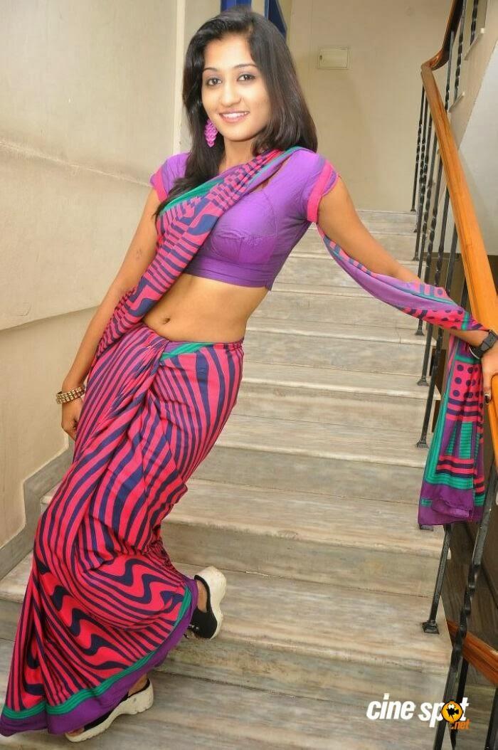 Dressing Below Navel Saree: Akshaya Hot Saree Navel Photo