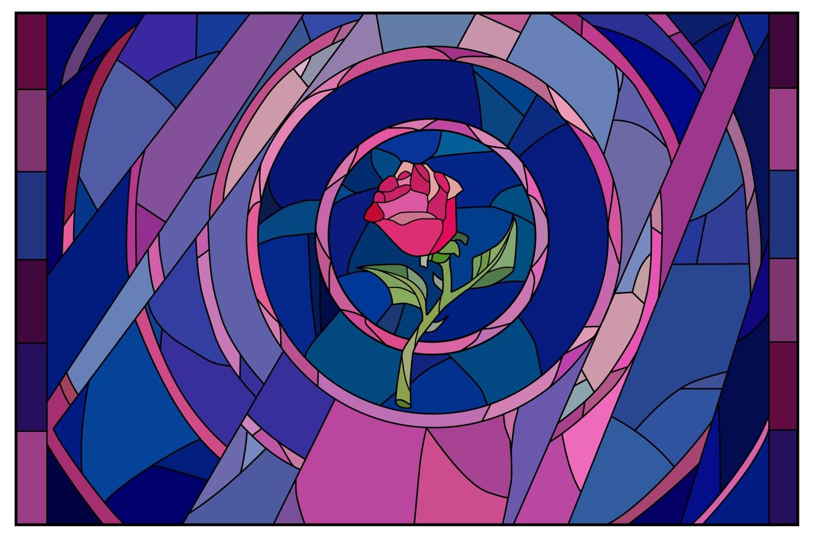 The Running Paintbrush: Beast's Enchanted Rose