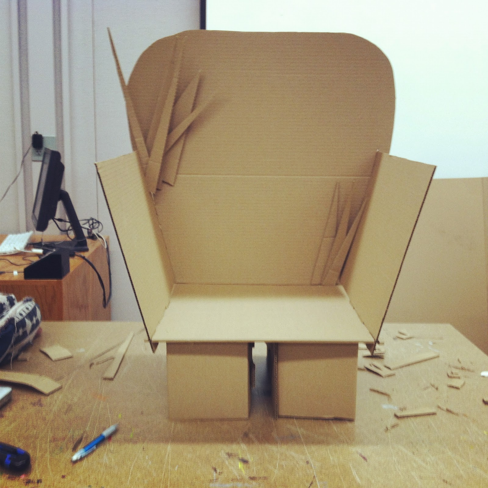 wheelchair project rocker chair think and make cardboard seat duality