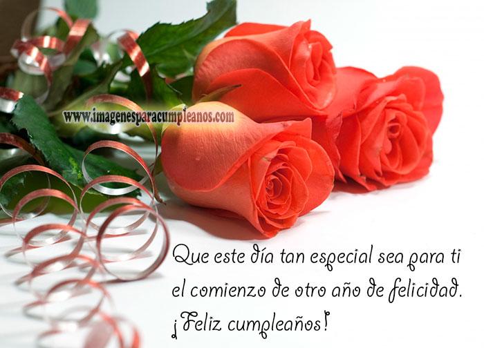 Flores Mensajes Cumpleaños