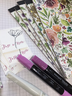 Frosted Floral DSP , Covered Notebooks, Blend Pens, Stampin Up